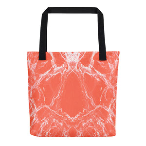 Peach Marble Tote bag