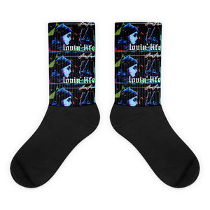 Lovin' Life dead pres Black foot socks