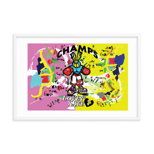 LOVIN' LIFE - PUNCH OUT - HAVE HEART MONEY COLLECTION - Framed poster 24 x 36