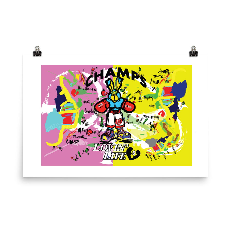 LOVIN' LIFE - PUNCH OUT - HAVE HEART MONEY COLLECTION - Poster 24 x 36