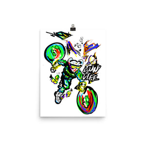 LOVING' LIFE -BAG RUN - SPACE COLLECTION Photo paper poster