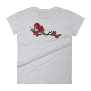 Women's Lovin' Life Rosey Red - bl fashion fit t-shirt