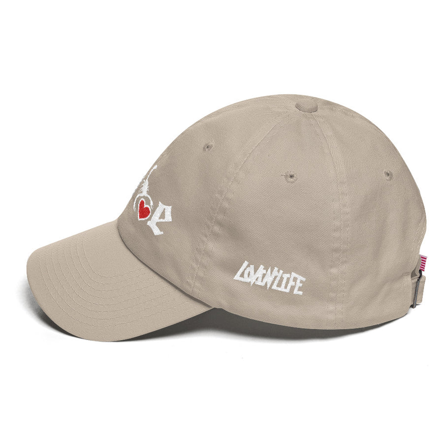 Lovin' Life - SELF LOVE - red heart/white DAD Hat