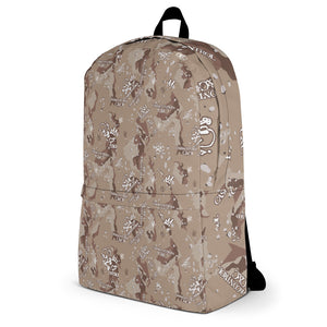 CASH&CONTROL CAMO DESERT - LAPTOP/GYM Backpack