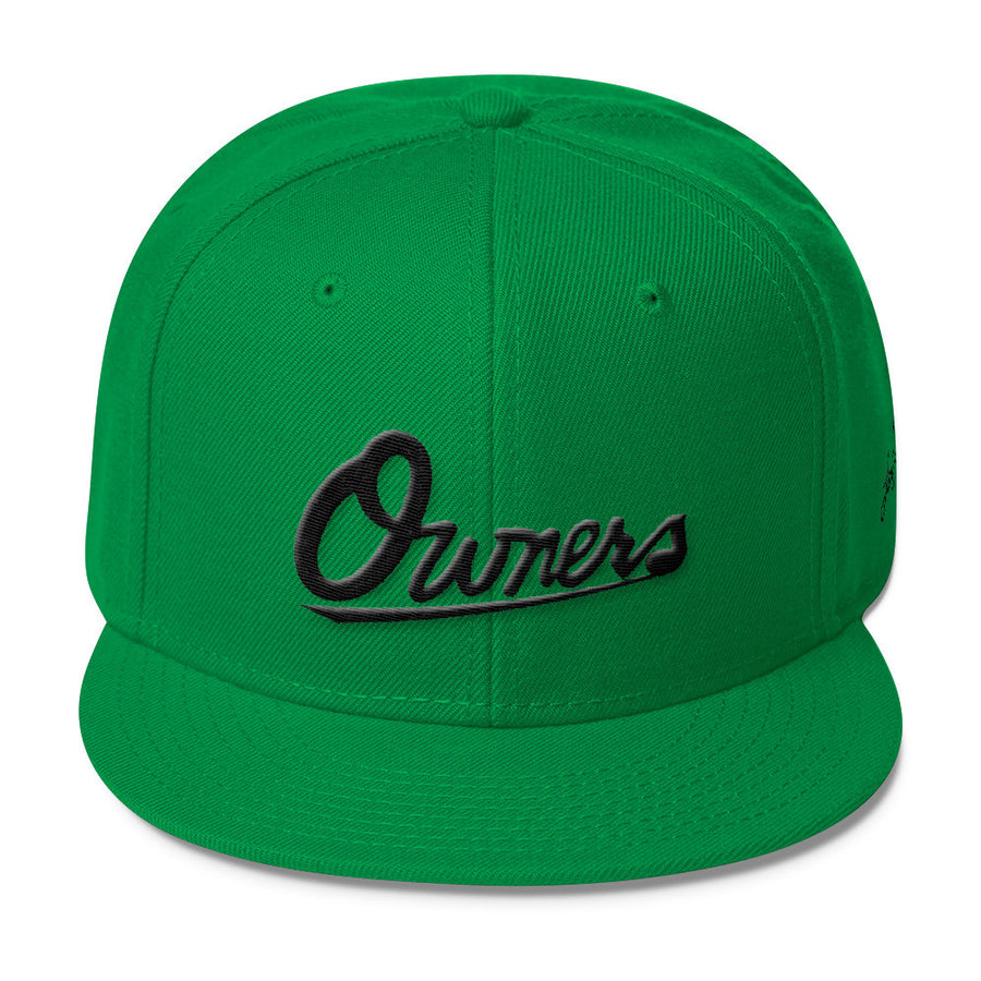 Owners blac 3D-Puff embroidered Snapback