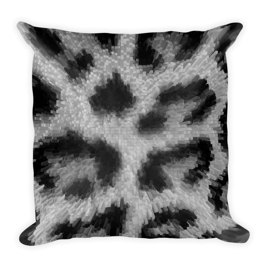 Cat grey Square Pillow 18x18