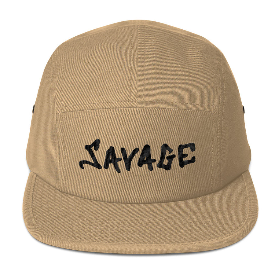 Savage blac 3D-Puff embroidered Five Panel Cap