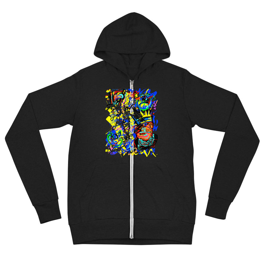 Lovin' Life SPACE AGE collection zip hoodie