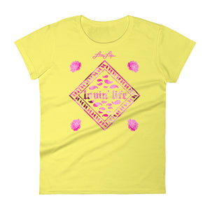 Ladies Rosey Pink short sleeve t-shirt