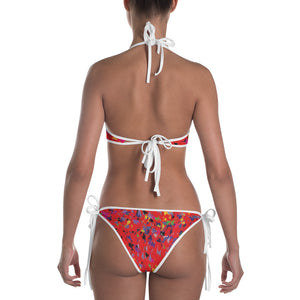 Lovin' Life - splatter paint red Bikini
