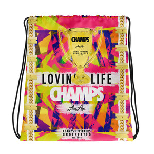 LOVIN' LIFE MEMBERS ONLY - CHAMPS RAZORS & CUBAN LINXS 01 DRAWSTRING BAG