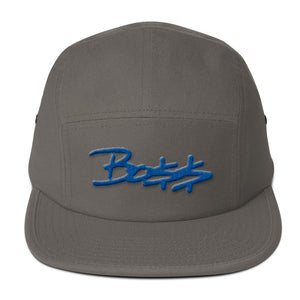 Boss royal blue 3D-Puff embroidered Five Panel Cap