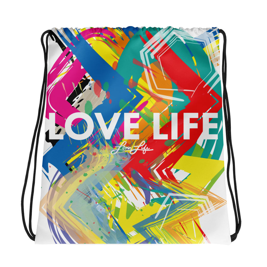 Love Life artsy Drawstring bag