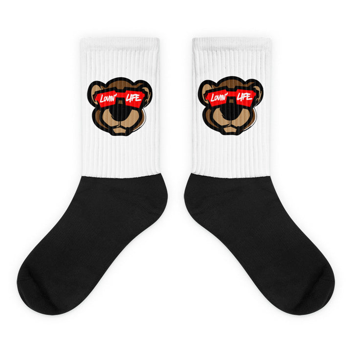 Leo Lion LL2 Black foot socks