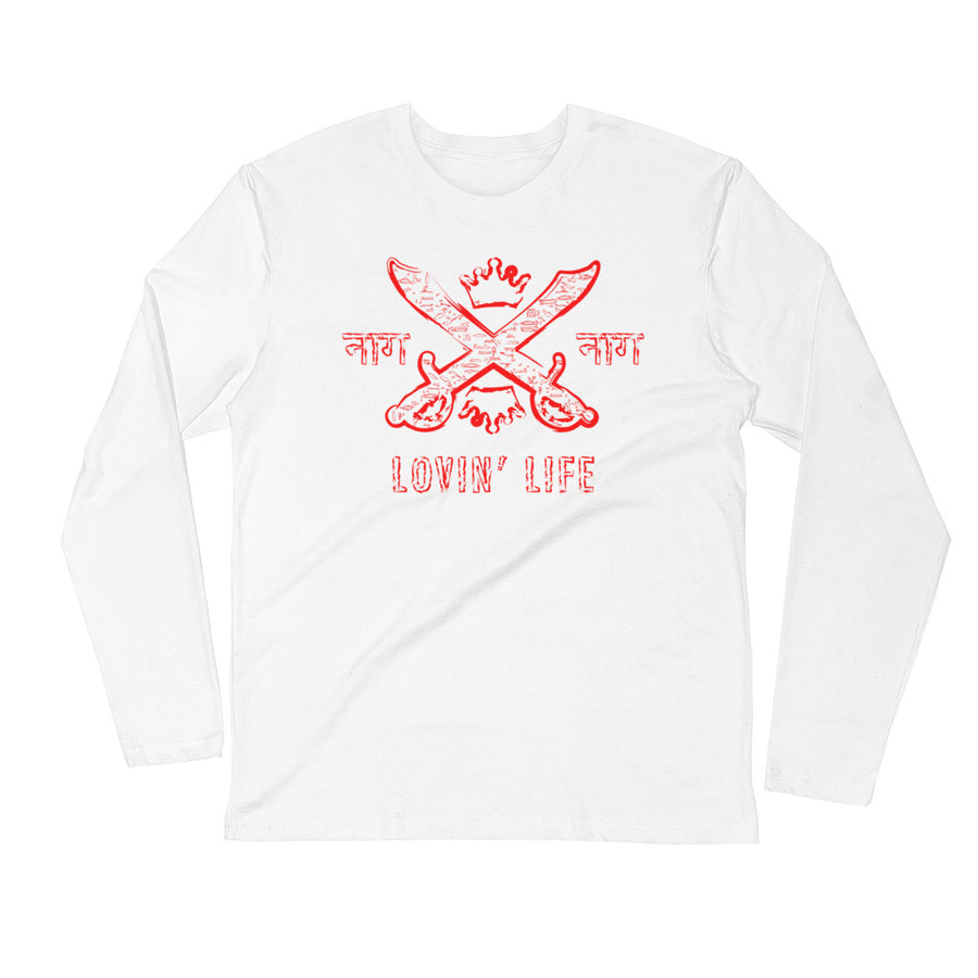 LOVIN' LIFE MEMBERS ONLY - SYNDICATE FAMILY Long Sleeve - red