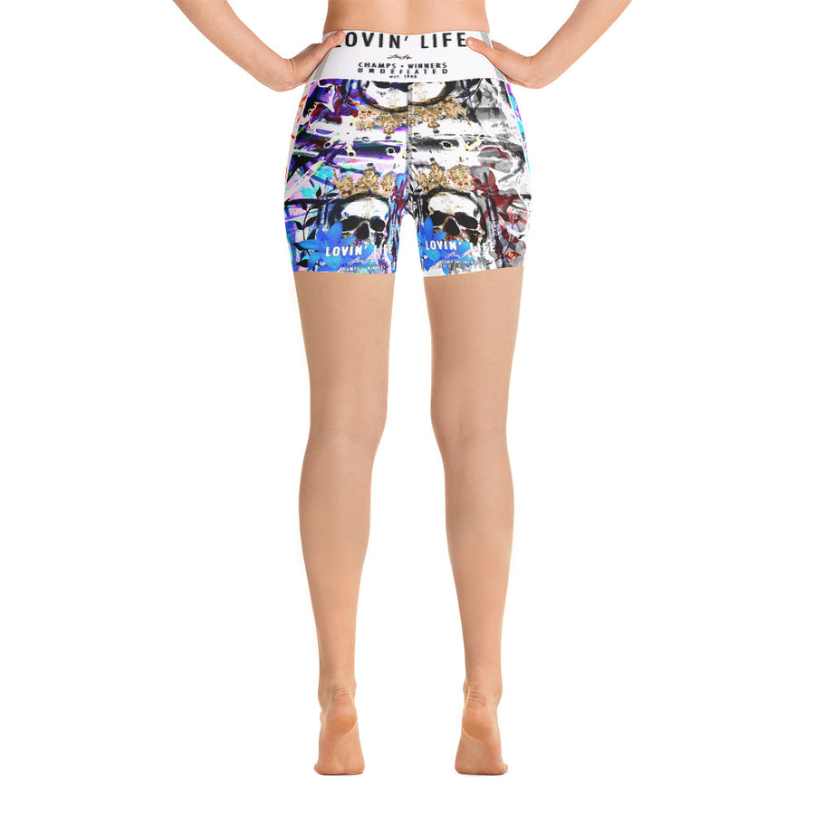 LOVIN' LIFE MEMBERS ONLY - DIVINITY CRES Yoga Shorts