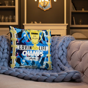 LOVIN' LIFE MEMBERS ONLY - CHAMPS RAZORS & CUBAN LINXS 00 Premium Pillow