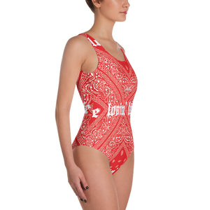 Lovin' Life el hefe red One-Piece Swimsuit