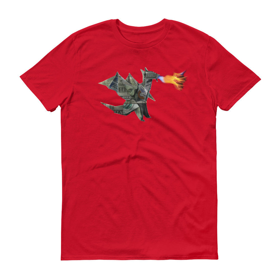 Origami Money Dragon Short sleeve t-shirt