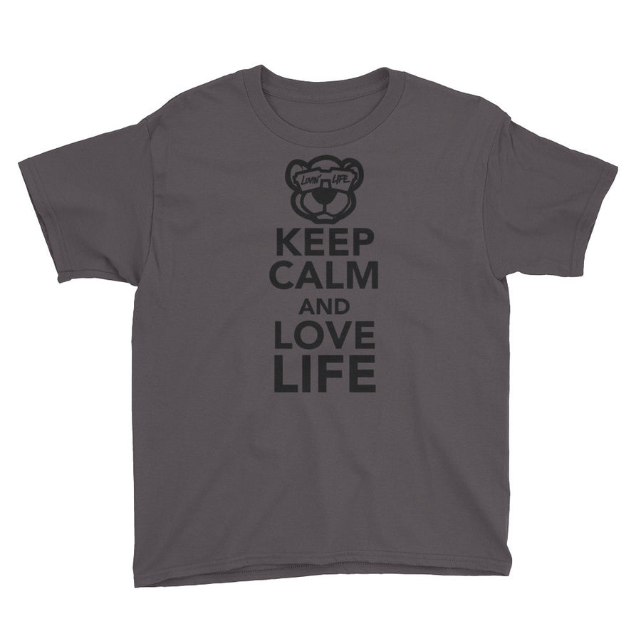 Youth Keep calm and love life T-Shirt