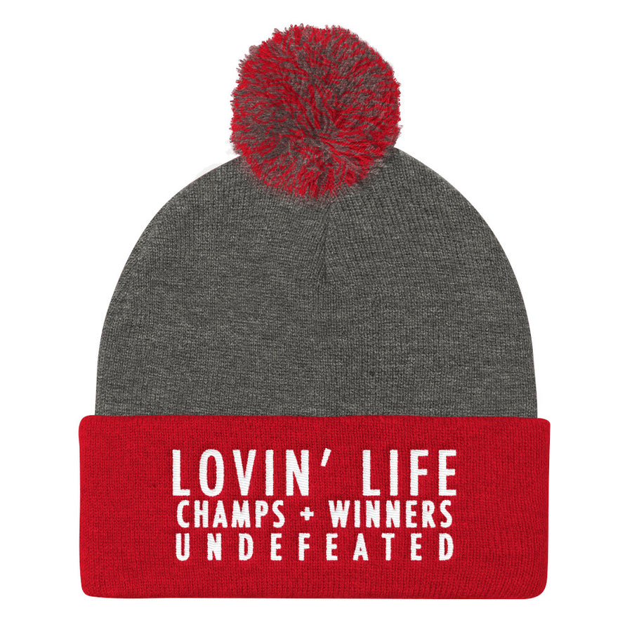 LOVIN' LIFE MEMBERS ONLY Classic Pom Pom Knit Cap