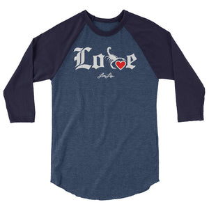 Lovin' Life - SELF LOVE - red heart 3/4 sleeve raglan shirt
