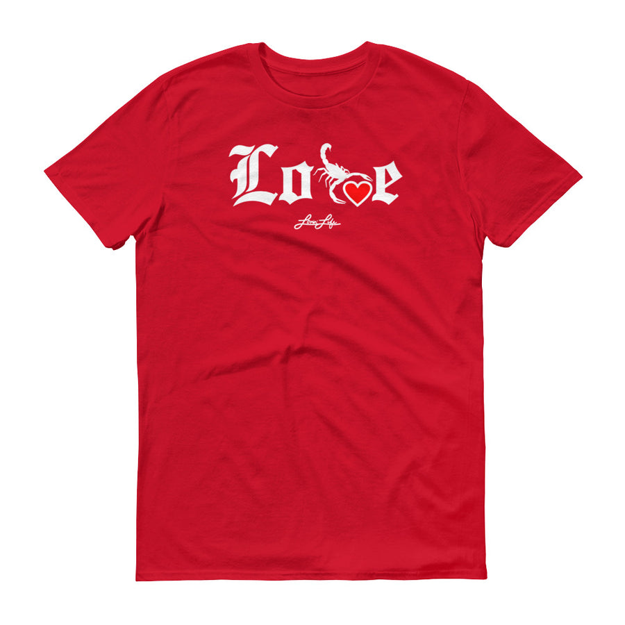 Lovin' Life - SELF LOVE - red heart t-sthirt