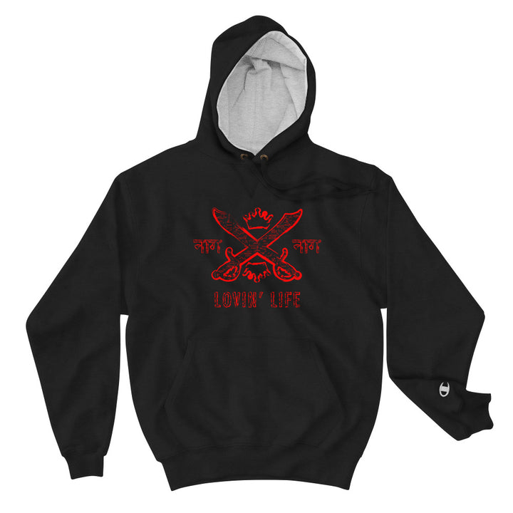 LOVIN' LIFE X CHAMPION MEMBERS ONLY - SYNDICATE FAMILY Hoodie - red