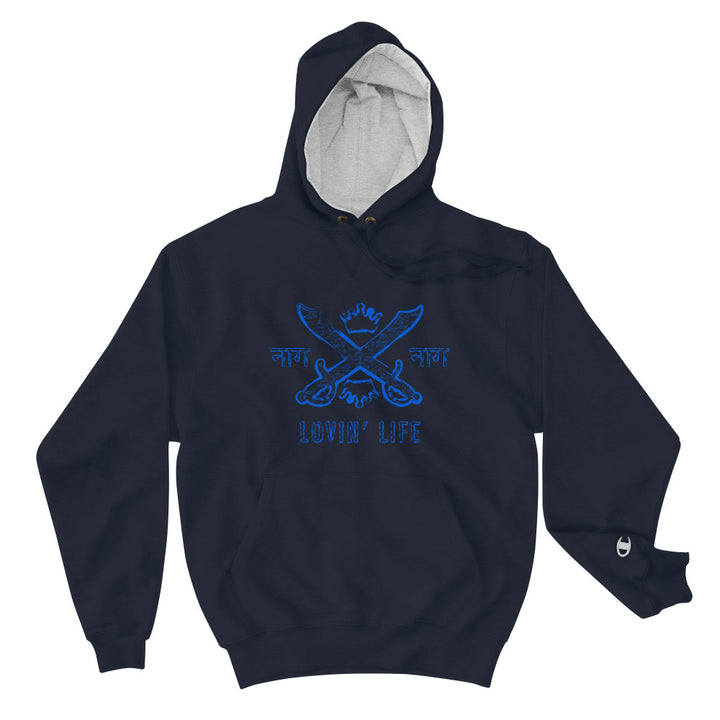LOVIN' LIFE X CHAMPION MEMBERS ONLY - SYNDICATE FAMILY - BLU Hoodie