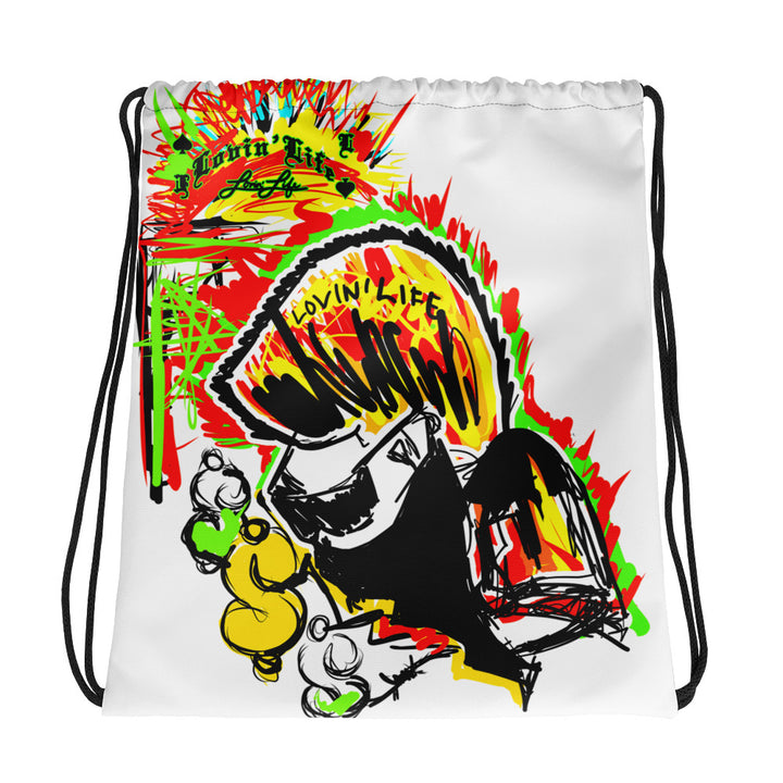 LOVIN' LIFE - #%* - SPAGE AGE COLLECTION Drawstring bag