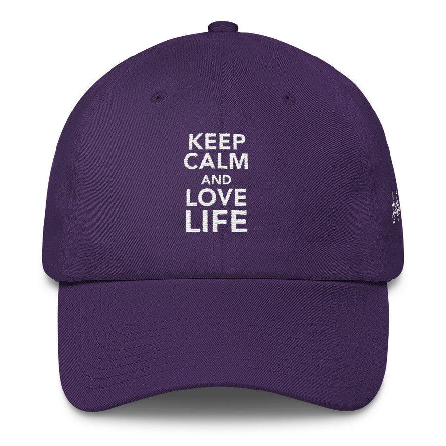 Keep calm and love life w DAD hat