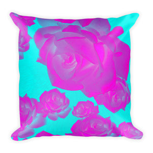 "Rosey PG Square Pillow 18""x18"""