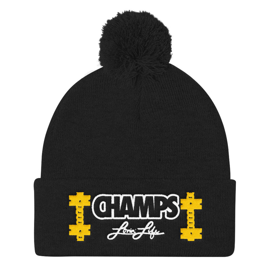 Lovin' Life CHAMPS MEMBERS ONLY - CHAMPS RAZORS & CUBAN LINXS Pom Pom Knit Cap
