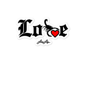 LOVIN' LIFE - SELF LOVE - RED HEART/BLAC stickers