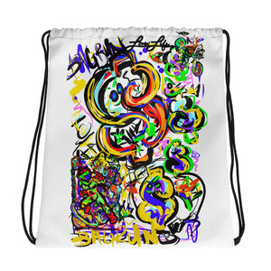 LOVING' LIFE -BAG RUN 2 - SPACE COLLECTION Drawstring bag
