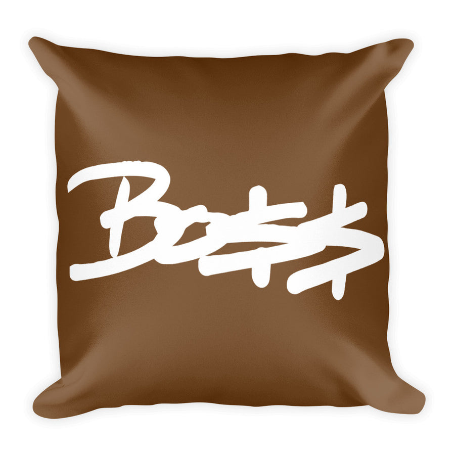 "Boss brown Square Pillow 18""x18"""