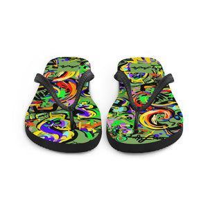 LOVIN' LIFE -BAG RUN 2 - SPACE COLLECTION - Flip-Flops - green