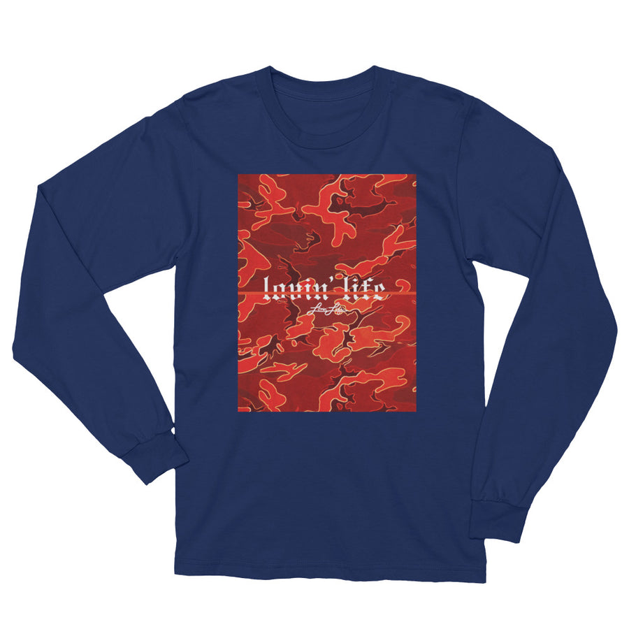 Camo Red remix Unisex Long Sleeve