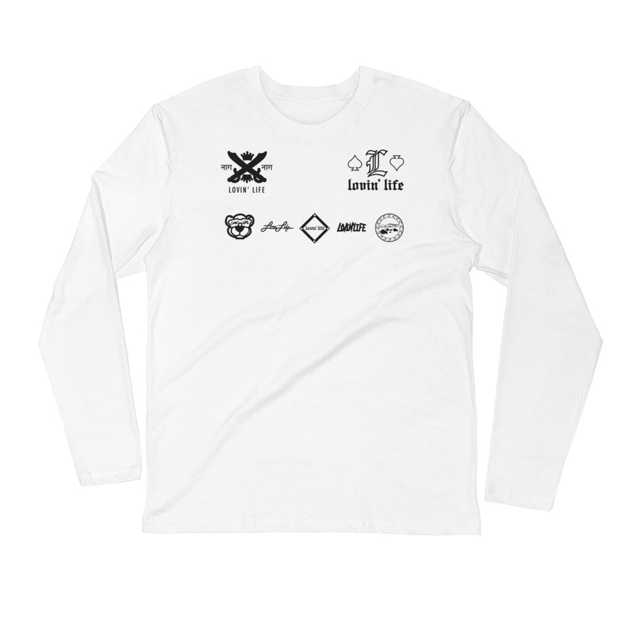 LOVIN' LIFE MEMBERS ONLY - DYNASTY BLK Long Sleeve Fitted Crew