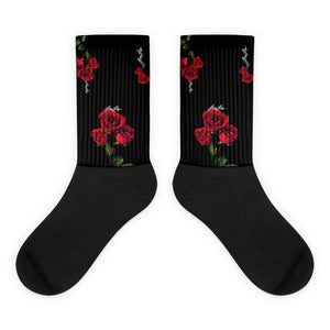 Rosey Red blk Socks