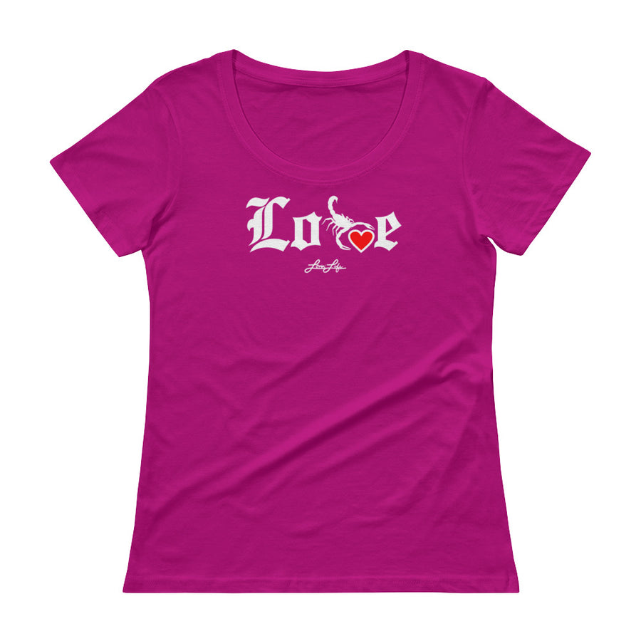 Ladies' Lovin' Life - SELF LOVE - red heart Scoopneck T-Shirt