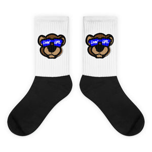 Leo Lion LL3 Black foot socks