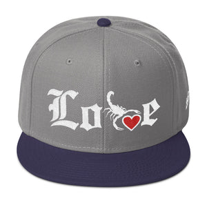 Lovin' Life - SELF LOVE - red heart/white Snapback