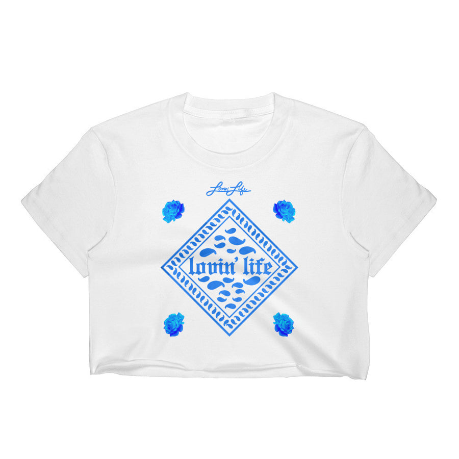 Ladies Rosey Blue Crop Top