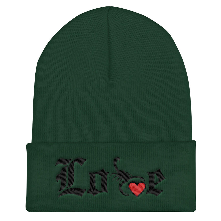 Lovin' Life - SELF LOVE - red heart/blac  Beanie