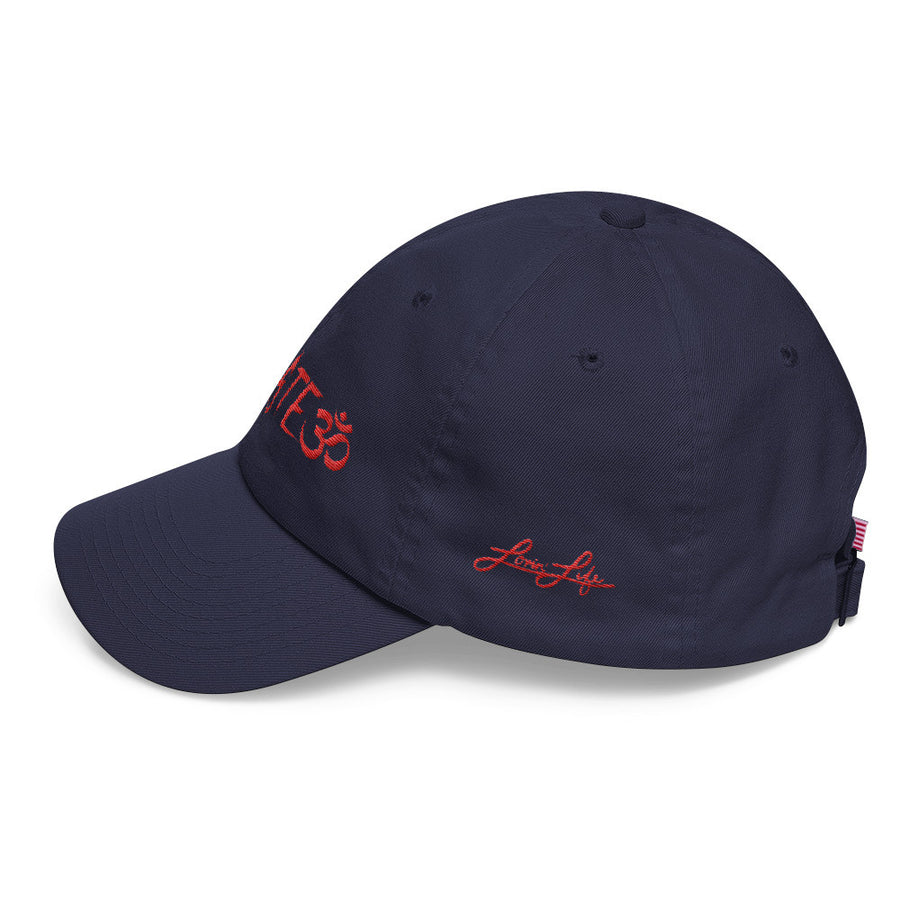 Namaste red DAD hat