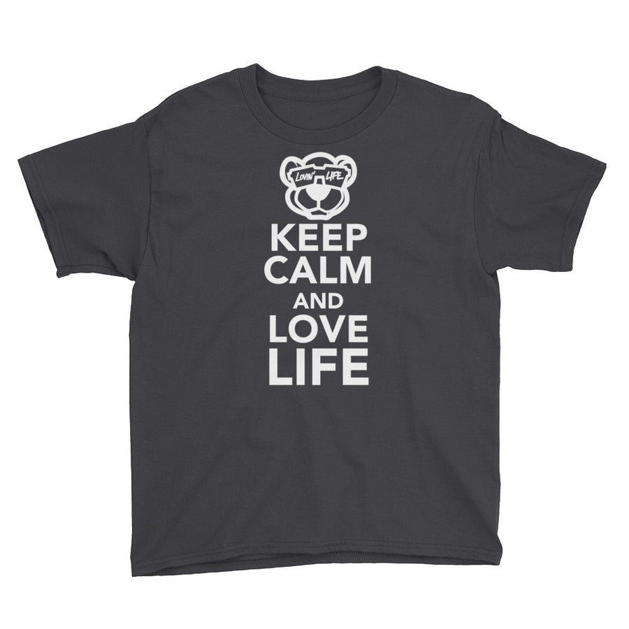 Youth Keep calm and love life Sleeve T-Shirt