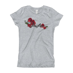 Girl's Lovin' Life Rosey Red bl - Princess Tee