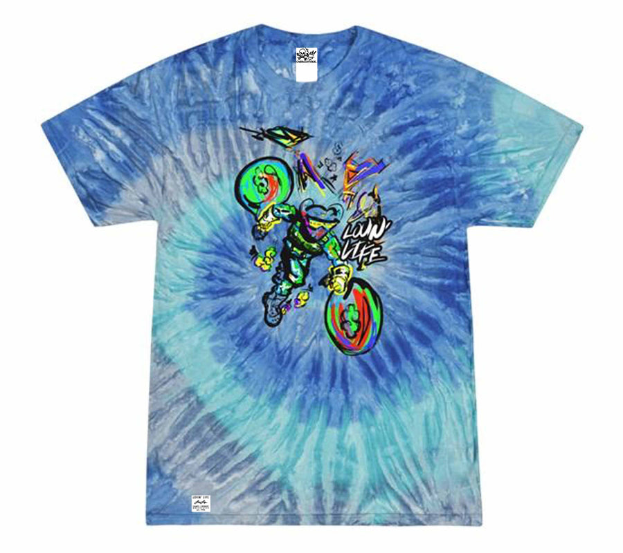 Lovin' Life - Bag Run 2 - Space Collection - Blue Tye Die T-shirt