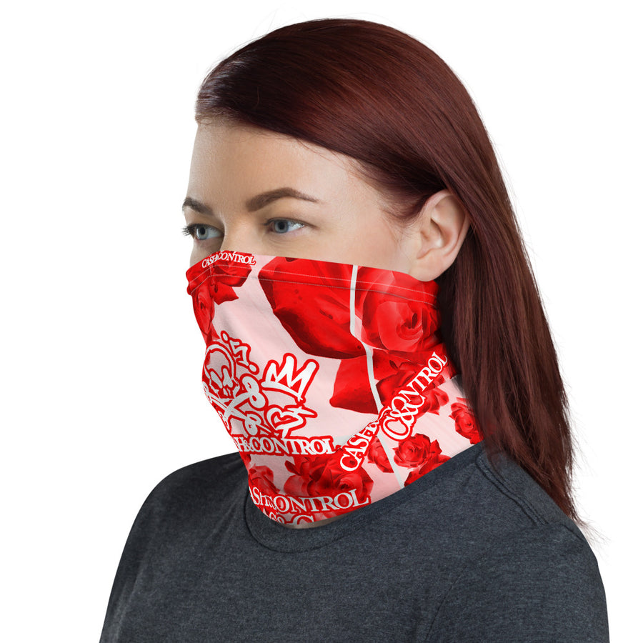 Cash&Control - FASK MASK & NECK GAITER - RED Rosey